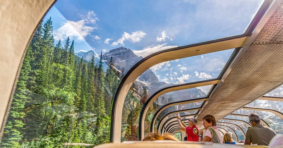 glass domed train