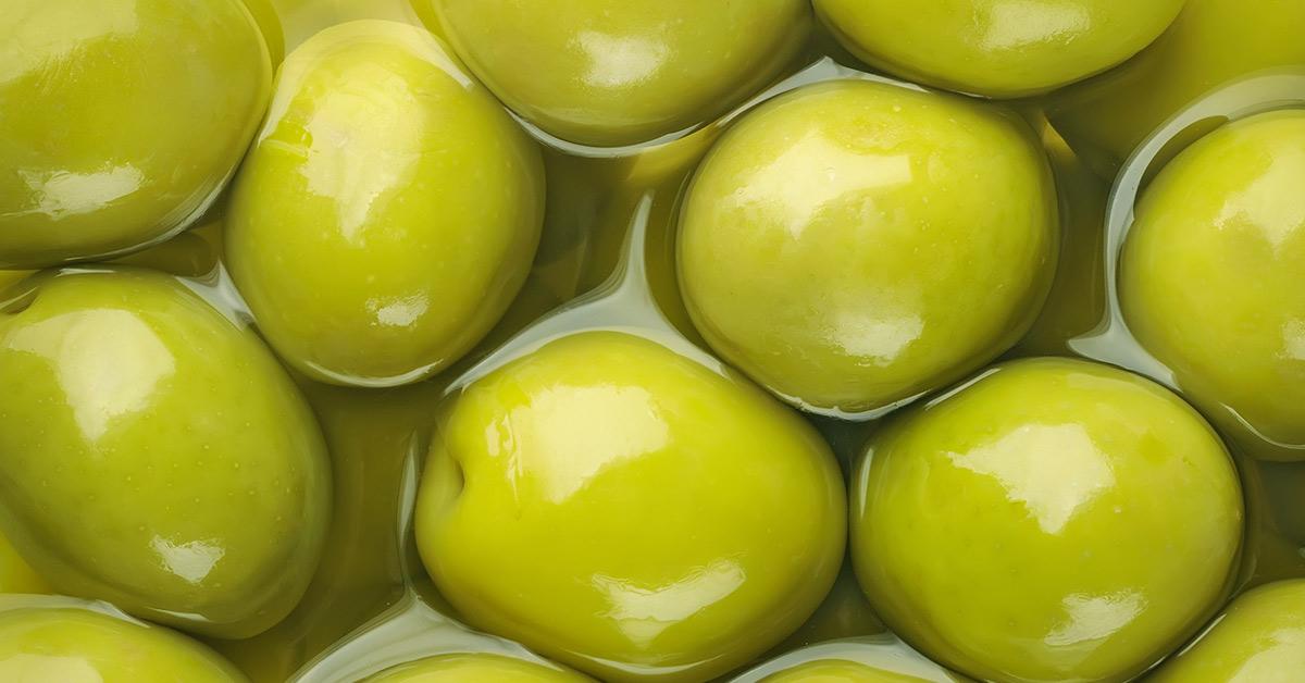 green olives in brine