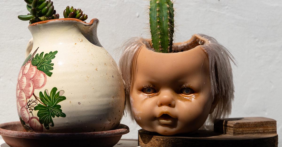 doll head planter