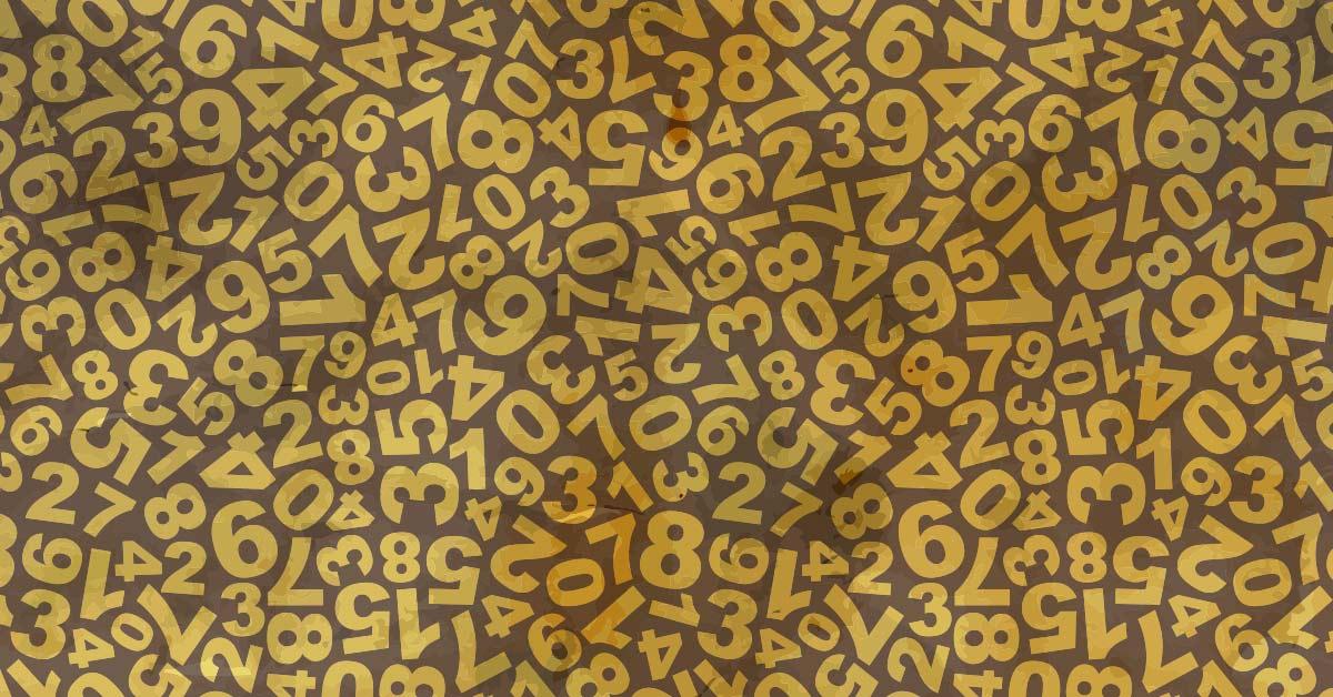 random numbers jumbled together