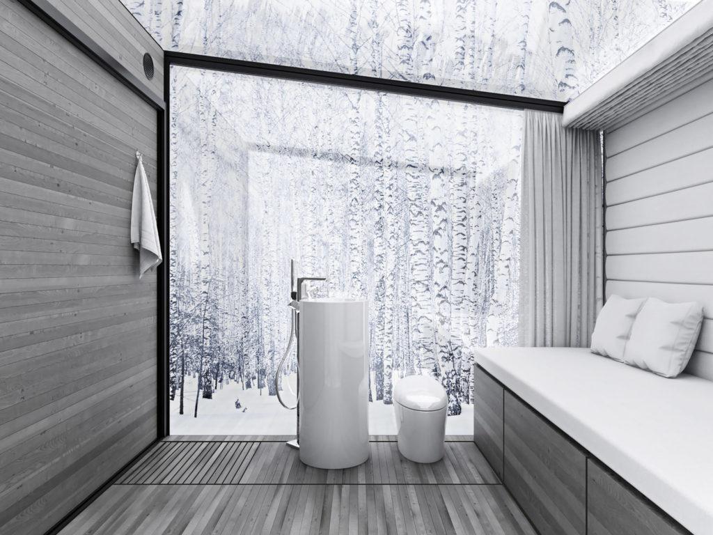 bathroom in dissapear retreat invisible home