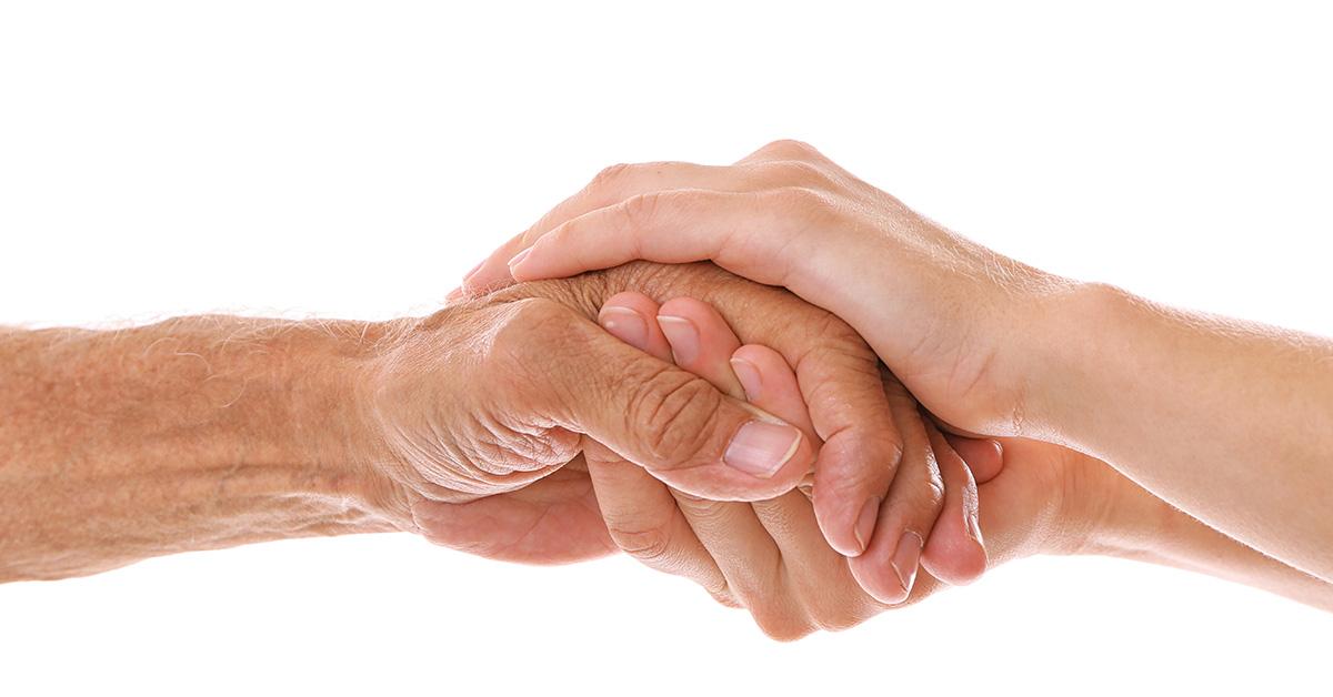 hand held together
