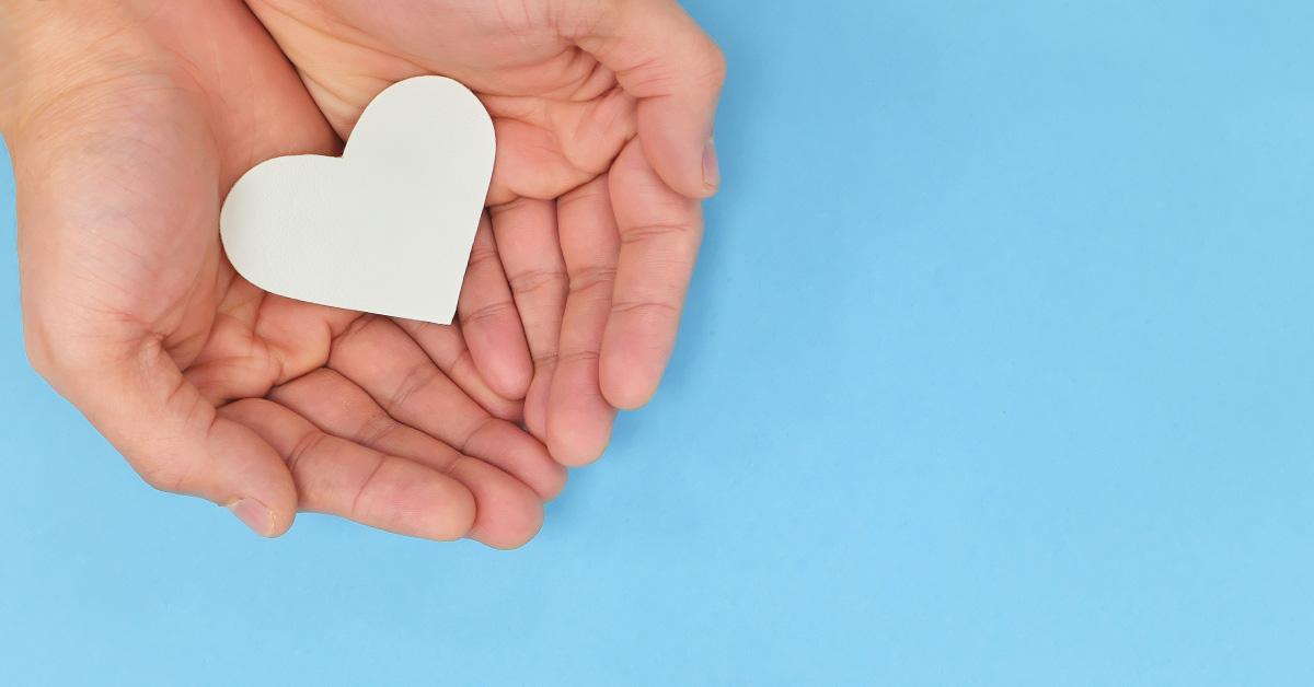 heart cutout in hand