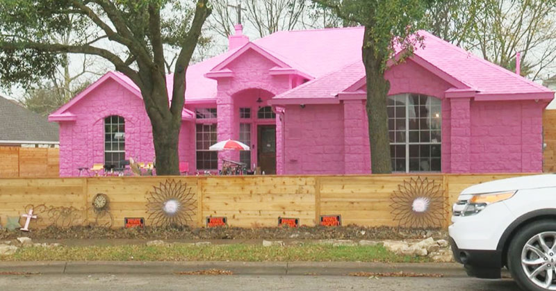 bright pink home
