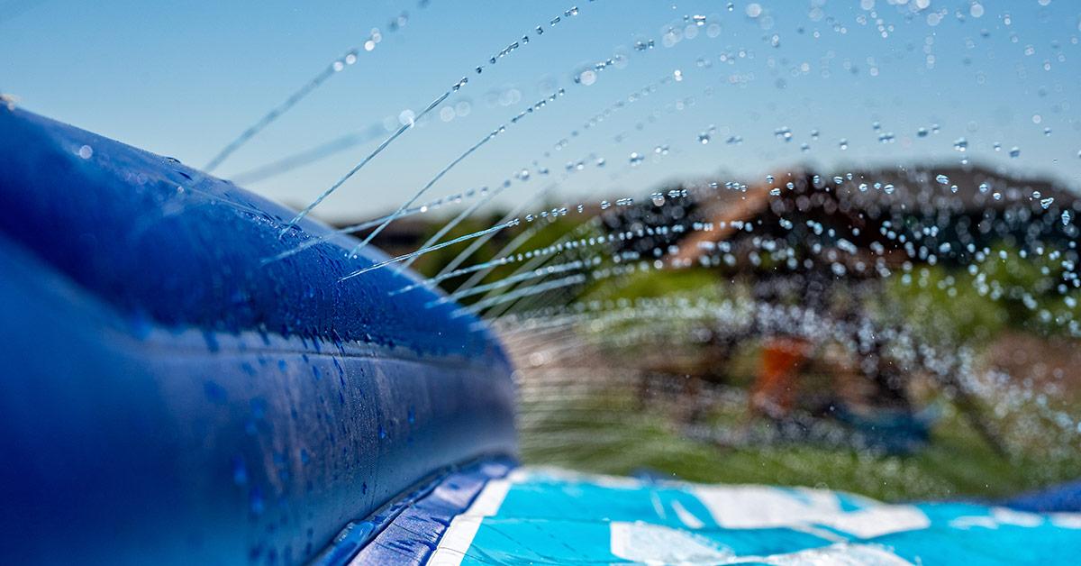 slip and slide water fun