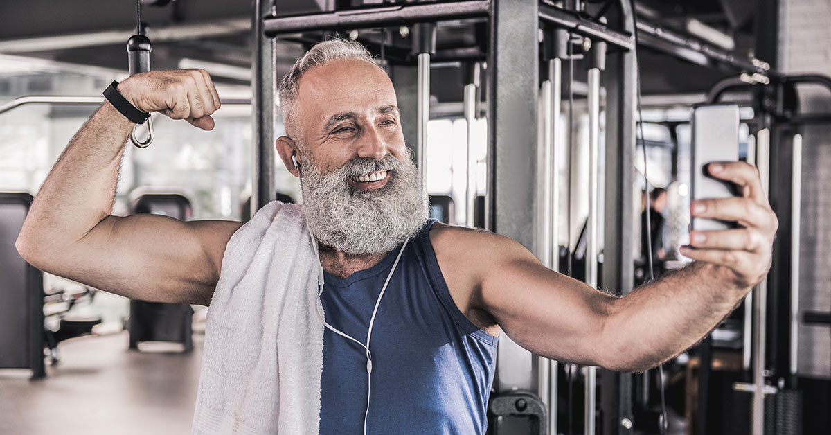 grandpa working out