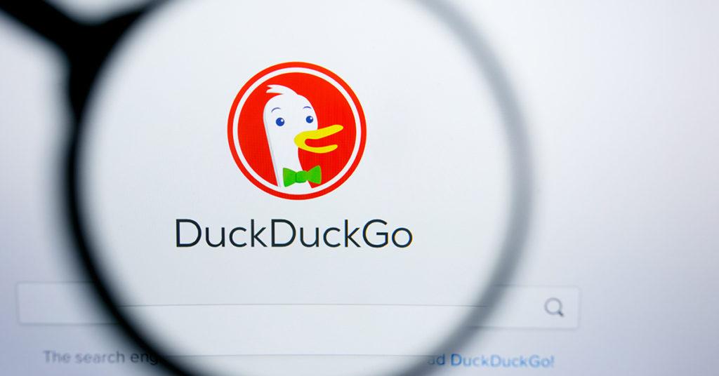 Duck Duck Go search engine