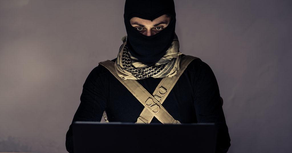 terrorist at laptop