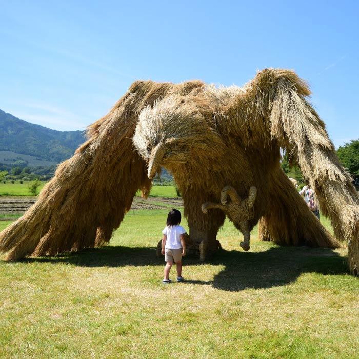 Straw Creatures from Wara Art Festival