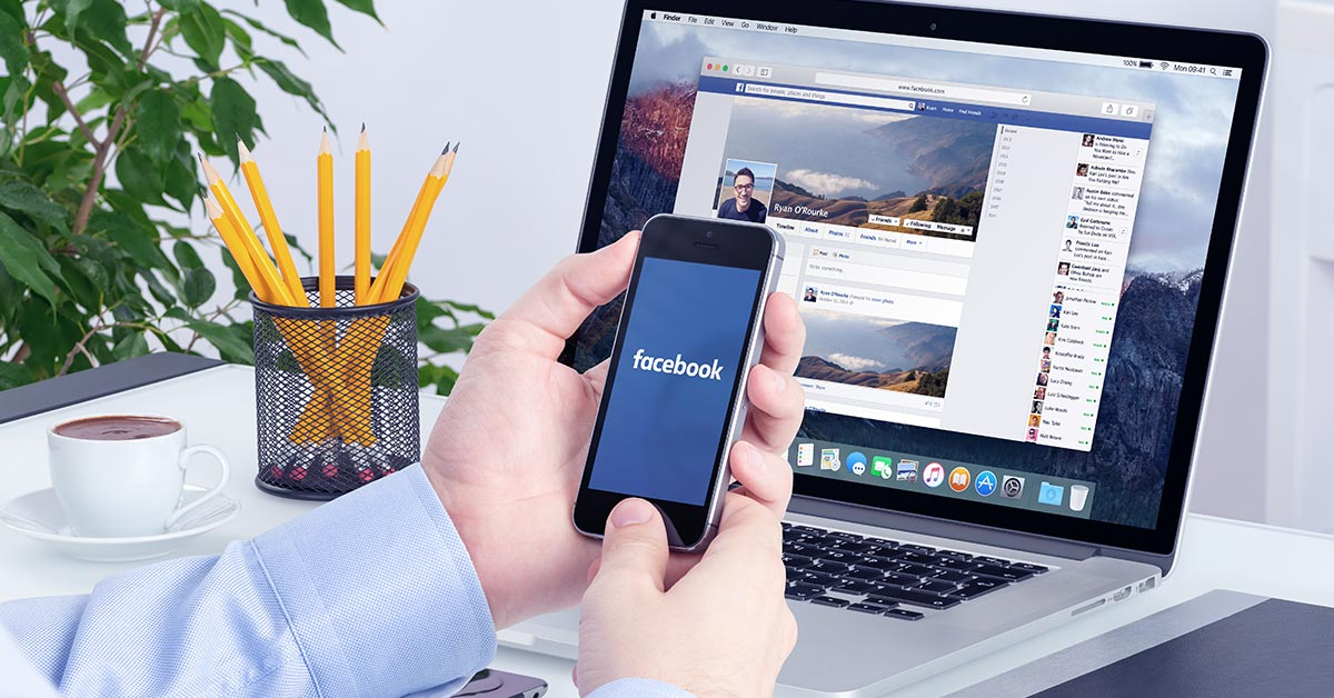 smart phone with facebook