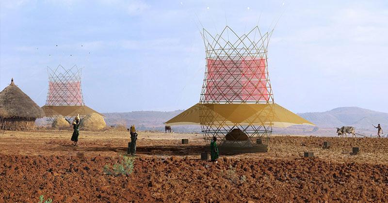 WarkaWater bamboo water tower